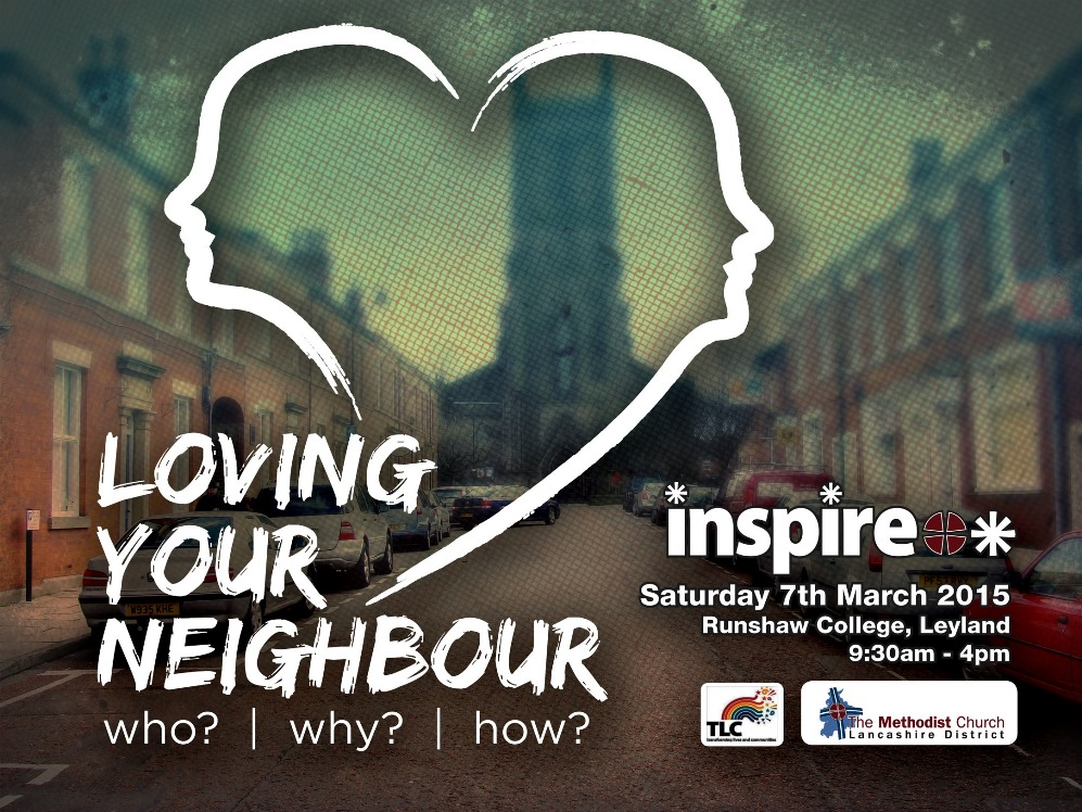 Poster advertising INSPIRE - a Methodist event on 7 March.