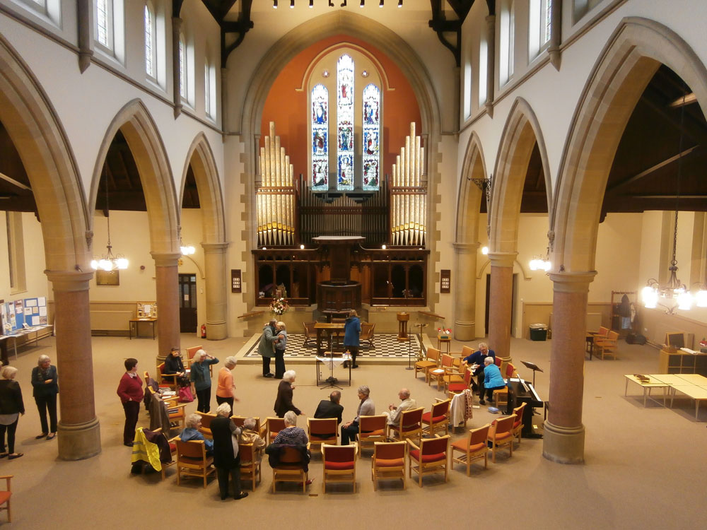 Interior of Jesmond URC
