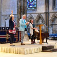 Leading in Lincoln Cathedral with John Bell & Jane Bentley