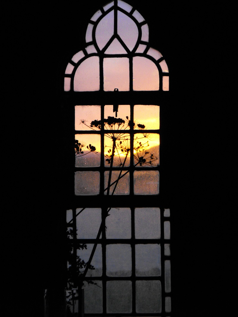 Sunrise from a window in Iona Abbey